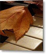 Autumn Piano 12 Metal Print