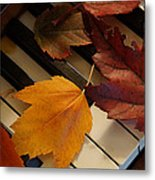 Autumn Piano 2 Metal Print