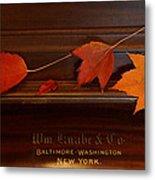 Autumn Piano 3 Metal Print
