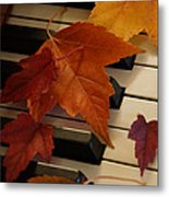 Autumn Piano 6 Metal Print