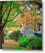 Autumn Porch Metal Print