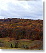 Autumn Postcard From Valley Forge Metal Print