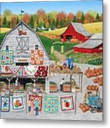 Autumn Quilts Metal Print