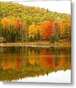 Autumn Reflection Panoramic View Metal Print