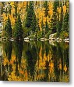 Autumn Reflections At Bear Lake Metal Print