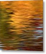Autumn Reflections In Pond Metal Print