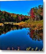 Autumn Reflections In The Adirondacks Metal Print