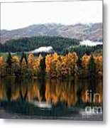 Autumn Reflections On Loch Ard  Metal Print