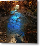 Autumn Reflections On The Tributary Metal Print