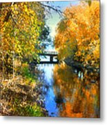 Autumn Reflections On A Friday Afternoon Metal Print