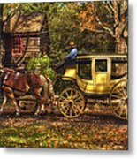 Autumn Ride Metal Print
