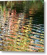 Autumn River Water Reflections  Metal Print