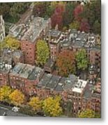 Autumn Rooftops Of Boston Metal Print