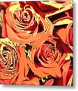 Autumn Roses On Your Wall Metal Print