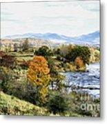 Autumn Rural Scene Metal Print