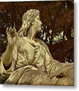 Red Autumn Sculpture Metal Print