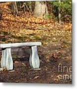Autumn Seat Metal Print