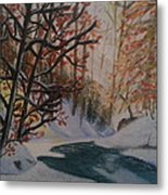 Autumn Snow Metal Print