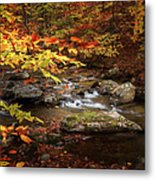 Autumn Stream Square Metal Print