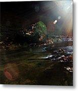 Autumn Sunburst Metal Print