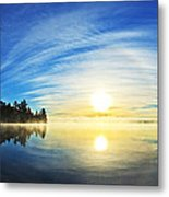 Autumn Sunrise At Meddybemps Metal Print by ABeautifulSky Photography