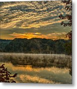 Autumn Sunrise At The Lake Metal Print