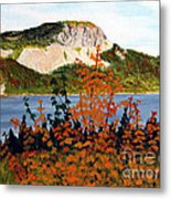 Autumn Sunset On The Hills Metal Print by Barbara Griffin