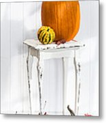 Autumn Table Metal Print