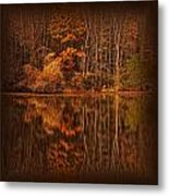 Autumn Tapestry Square Metal Print