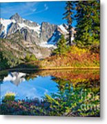 Autumn Tarn Metal Print