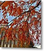 Autumn Temple Metal Print
