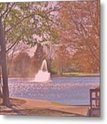 Autumn Time In The Park Metal Print