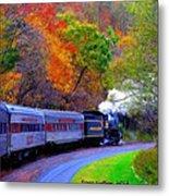Autumn Train Metal Print
