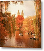 Autumn Trees - Central Park - New York City Metal Print