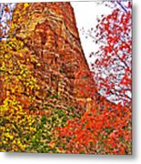 Autumn View Along Zion Canyon Scenic Drive In Zion National Park-utah Metal Print