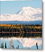 Autumn View Of Mt. Drum - Alaska Metal Print