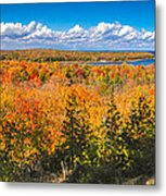 Autumn Vistas Of Nicolet Bay Metal Print