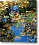Autumn Water Lily Reflections  Metal Print