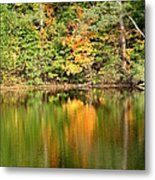 Autumn Watercolor Reflections Metal Print