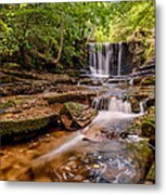 Autumn Waterfall Metal Print by Adrian Evans