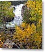 Autumn Waterfall Metal Print