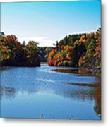 Autumn Waterway Metal Print