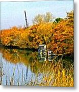 Autumn Weekend On The Delta Metal Print