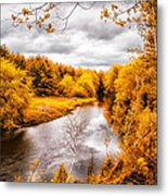 Autumn White Mountains Maine Metal Print