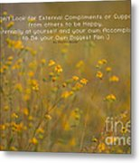 Autumn Wildflowers W Quote Metal Print
