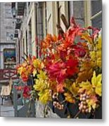 Autumn Window Box Metal Print by Gordon  Grimwade