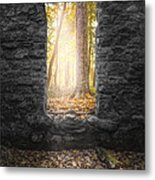 Autumn Within Long Pond Ironworks - Historical Ruins Metal Print