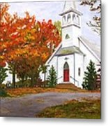 Autumn Worship Metal Print