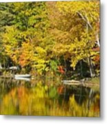 Autumn Yellow Reflections Metal Print