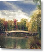 Autumn's Afternoon In Central Park Metal Print